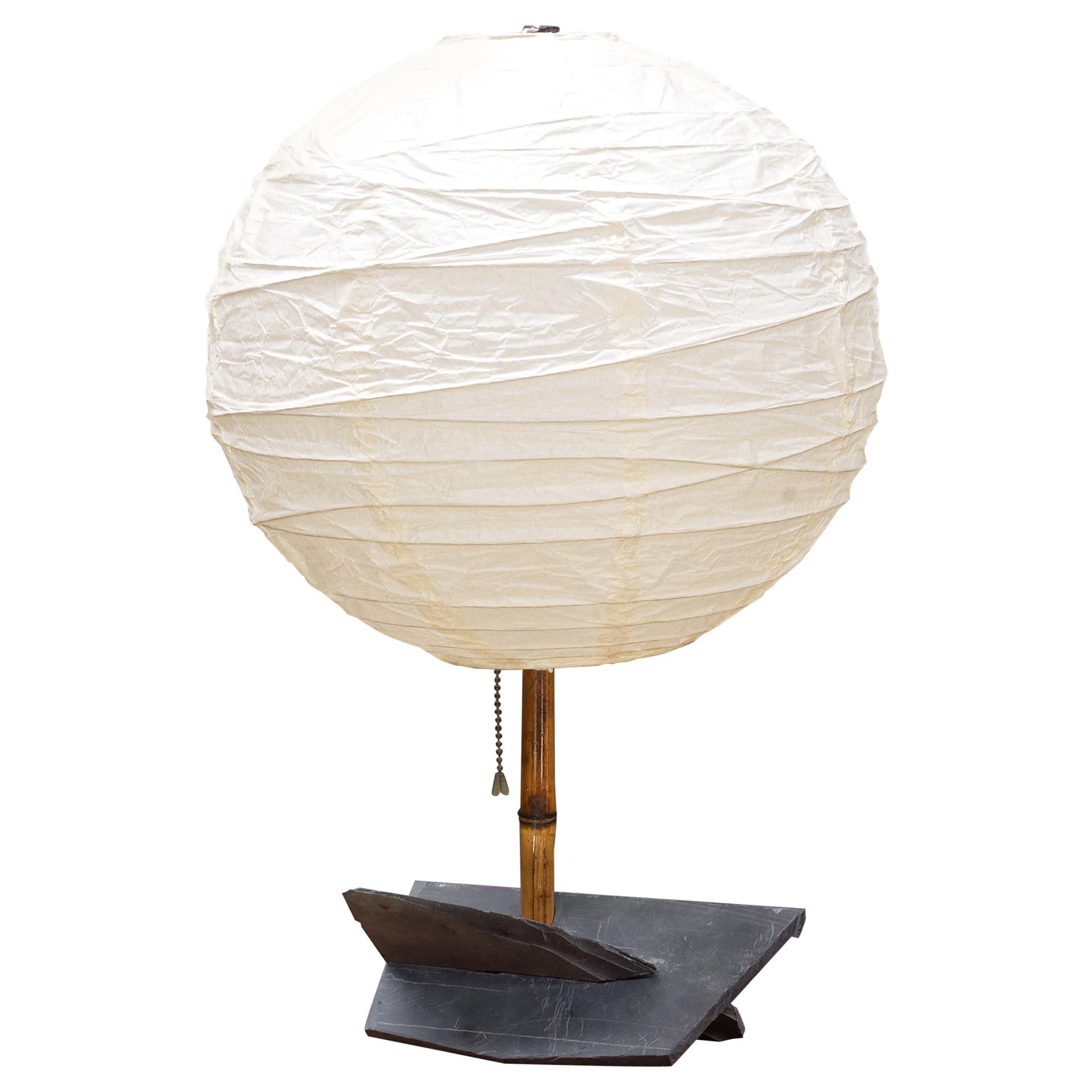 Modern50 Studio Craft Table Lamp Slate Bamboo Rustic Cabin Modern Lollipop