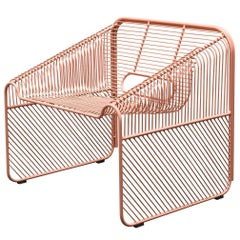 Modern, Wire, Powder Coated, Outdoor Hot Seat Lounge Chair