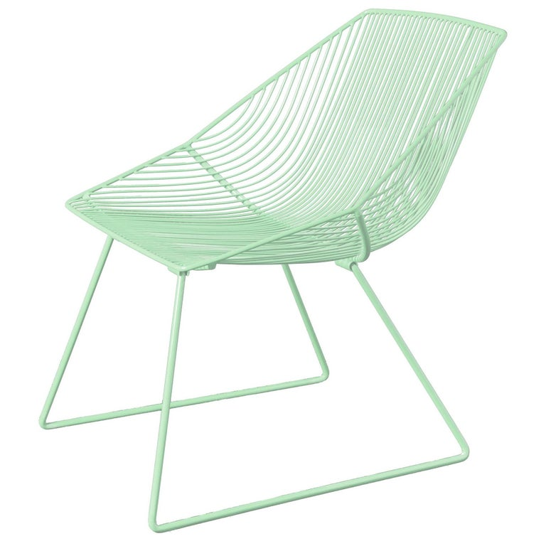 Handcrafted Outdoor Cali Wire Lounge Chair Powder Coated