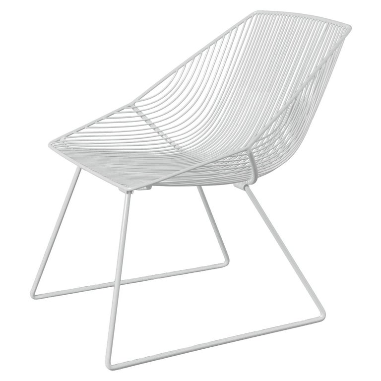 """Modern Wire Lounge Chair """"Special Edition Bunny"""" by Bend Goods"""