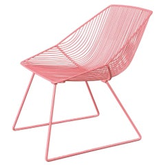 "Modern Wire Lounge Chair ""Special Edition Bunny"" by Bend Goods"