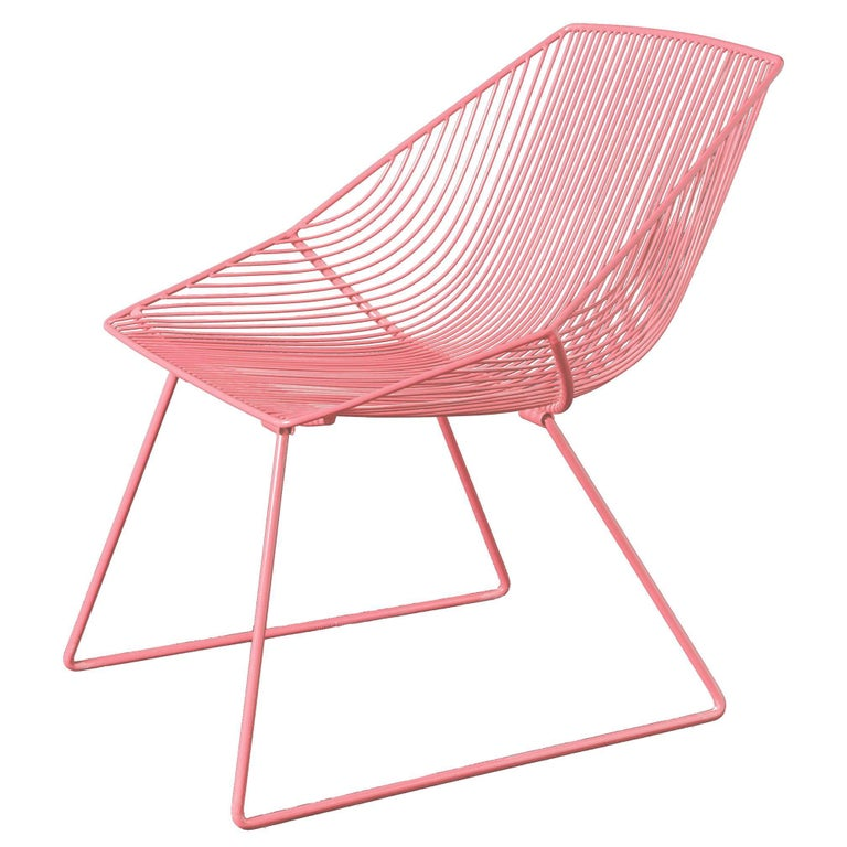 """Modern Wire Lounge Chair """"Special Edition Bunny"""" by Bend Goods For Sale"""