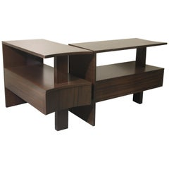 Modernage African Mahogany Side Tables