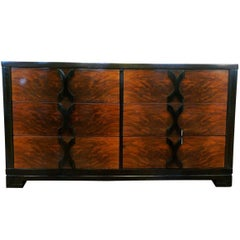 Modernage Walnut Six-Drawer Dresser in the Manner of James Mont