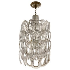 Moderne Blown Glass Murano Light Fixture