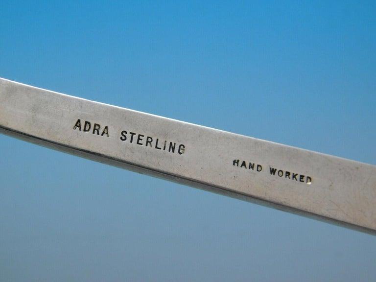 Moderne by Adra Sterling Silver Flatware Set Modernism California 78 Pcs Dinner For Sale 1