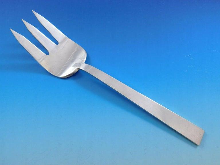 Moderne by Adra Sterling Silver Flatware Set Modernism California 78 Pcs Dinner For Sale 2