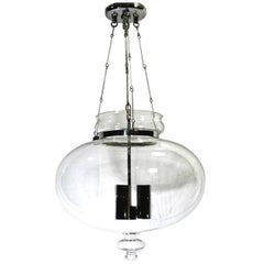 Moderne Clear Glass Lantern