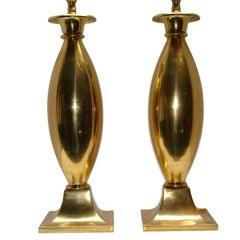 Moderne Gilt Bronze Table Lamps