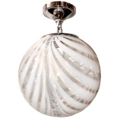 Moderne Glass Light Fixture