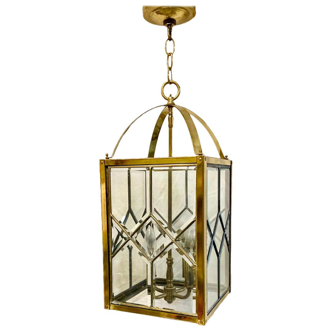 Moderne Italian Gilt Bronze Lantern