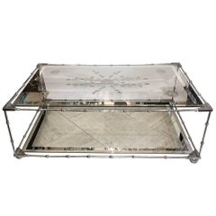 Moderne Nickel-Plated Coffee Table