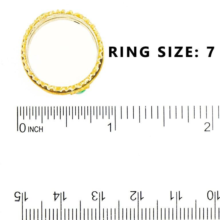 Modernist 18 Karat and 22 Karat Gold Ring For Sale 1