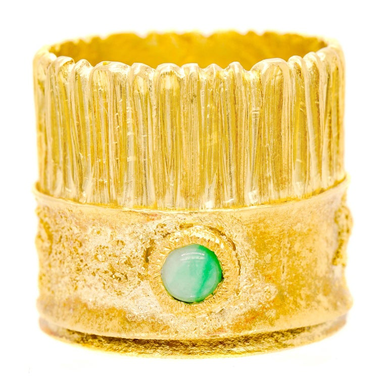 Modernist 18 Karat and 22 Karat Gold Ring For Sale 4