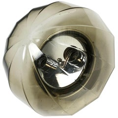 "Modernist 1970s German ""Globe"" Wall Light Made by Glashütte Limburg, Germany"