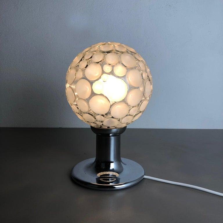 Modernist 1970s Sputnik Chromed Table Light by Honsel Lights Attributed, Germany For Sale 9