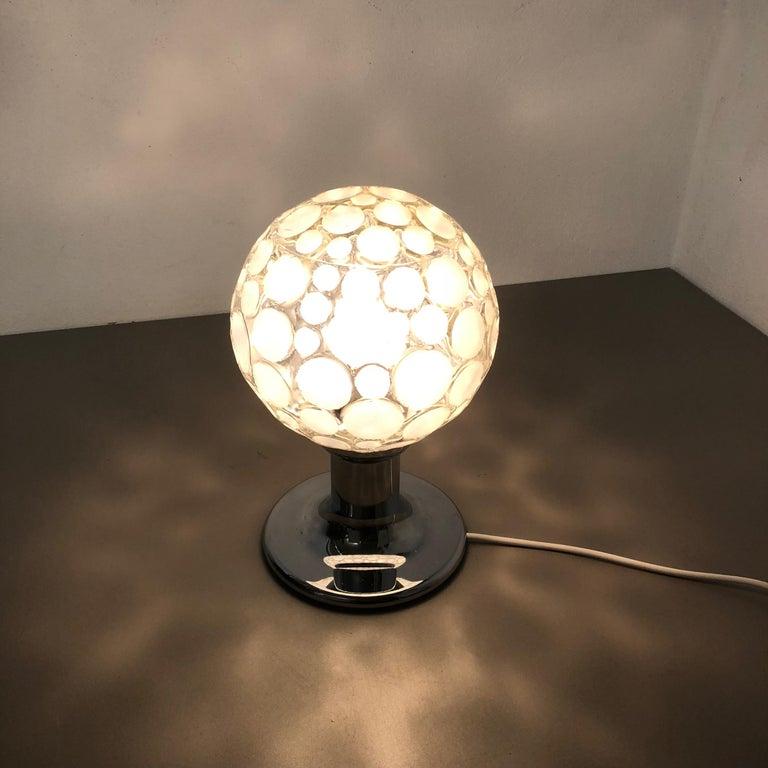 Modernist 1970s Sputnik Chromed Table Light by Honsel Lights Attributed, Germany For Sale 10