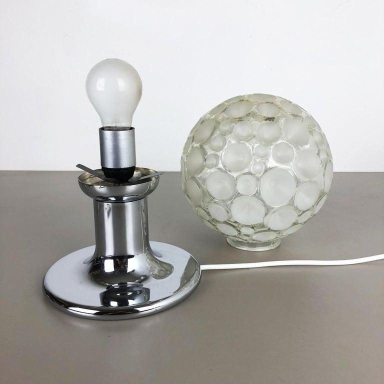 Metal Modernist 1970s Sputnik Chromed Table Light by Honsel Lights Attributed, Germany For Sale