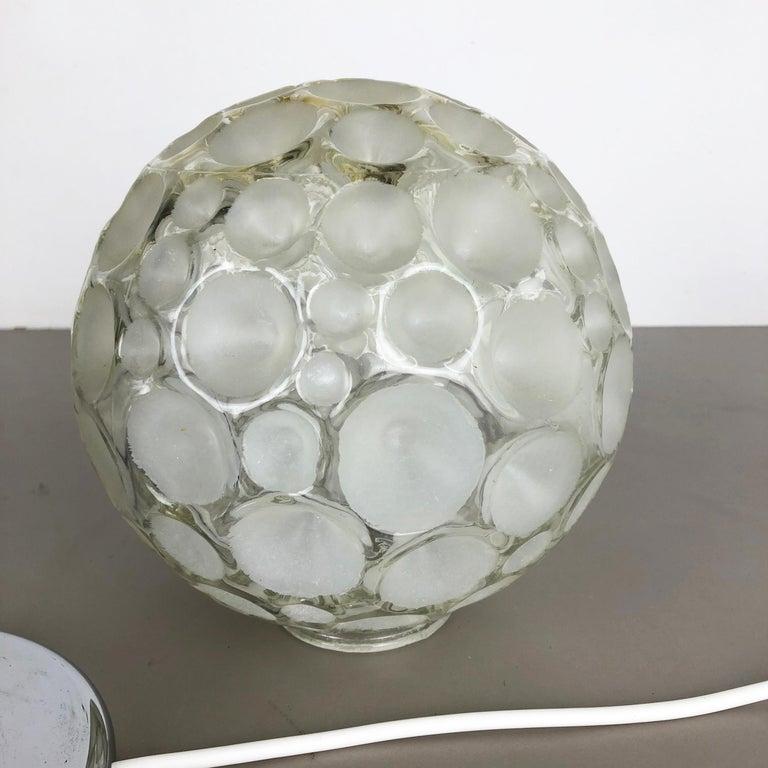 Modernist 1970s Sputnik Chromed Table Light by Honsel Lights Attributed, Germany For Sale 1