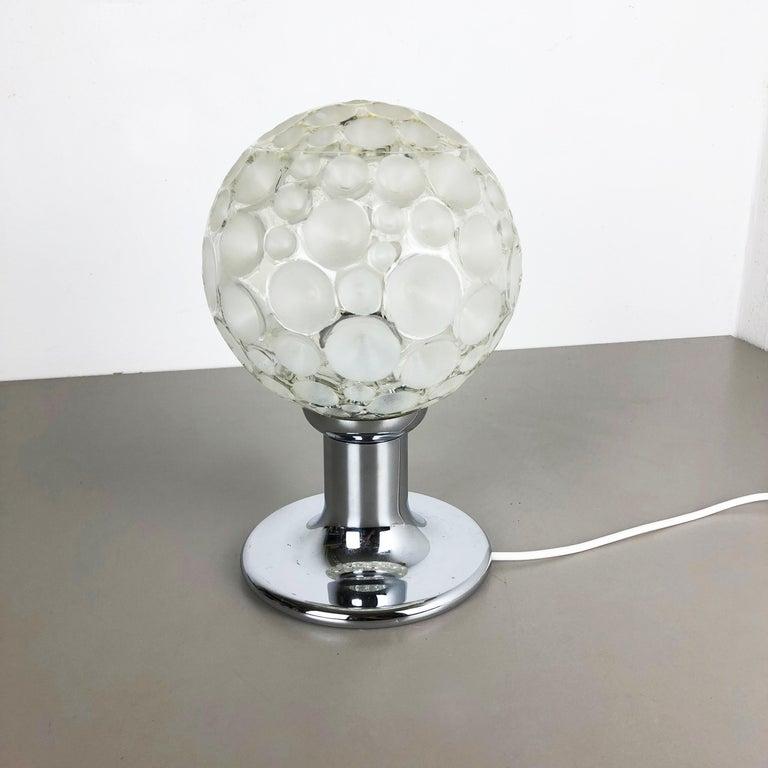 Modernist 1970s Sputnik Chromed Table Light by Honsel Lights Attributed, Germany For Sale 3