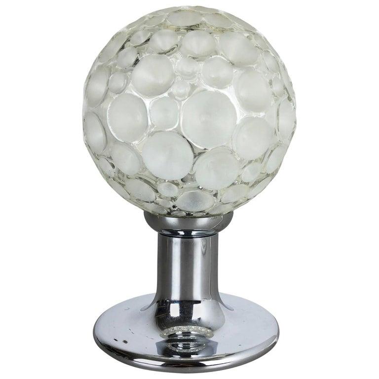 Modernist 1970s Sputnik Chromed Table Light by Honsel Lights Attributed, Germany For Sale