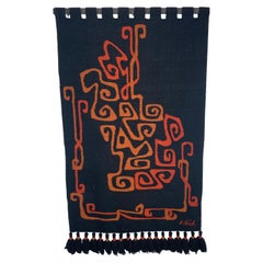 Modernist Abstract Ecuadorian Tapestry / Wall Hanging Designed by Olga Fisch