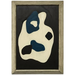 Modernist Abstract Expressionist Figure Painting after Jean Arp