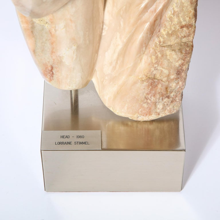 Modernist Abstract Figurative Sculpture in Exotic Marble by Lorraine Stimmel In Excellent Condition For Sale In New York, NY