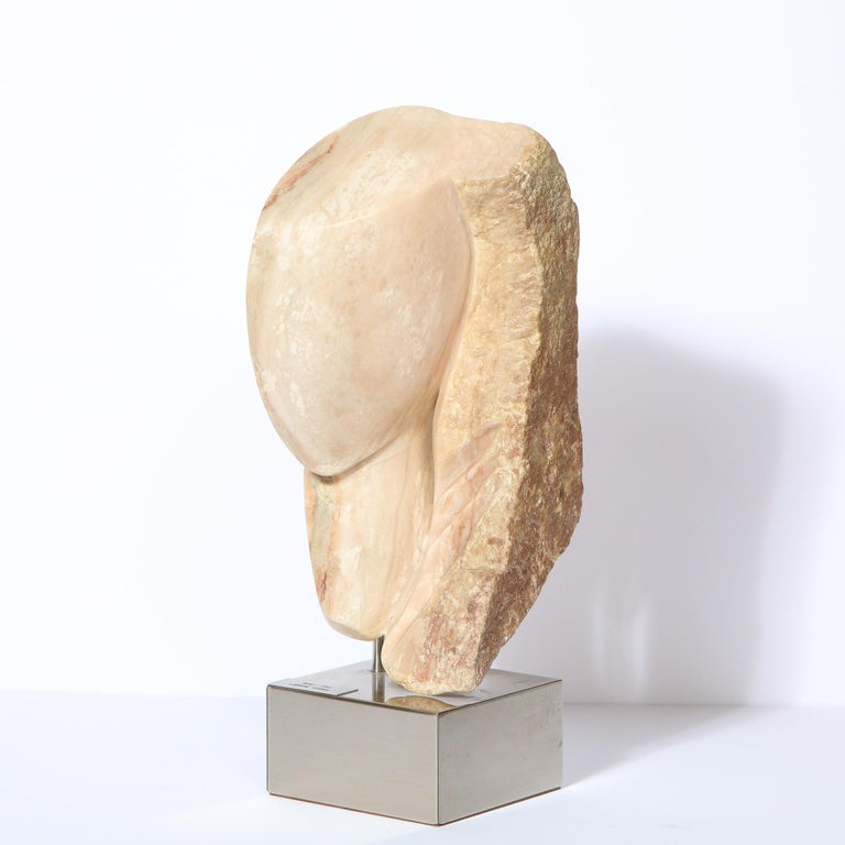 Late 20th Century Modernist Abstract Figurative Sculpture in Exotic Marble by Lorraine Stimmel For Sale