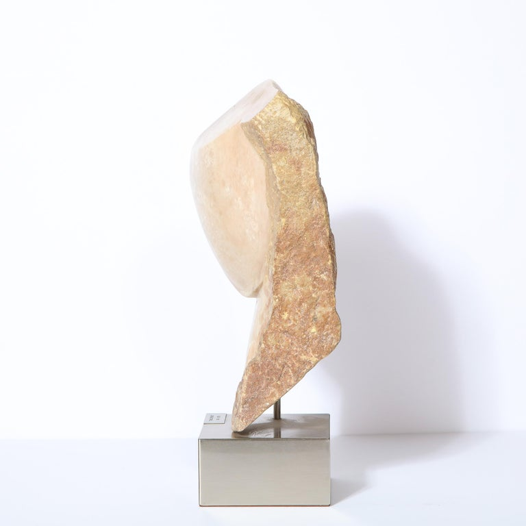 Modernist Abstract Figurative Sculpture in Exotic Marble by Lorraine Stimmel For Sale 1