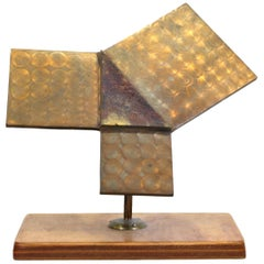 Modernist Abstract Geometric Metal Sculpture