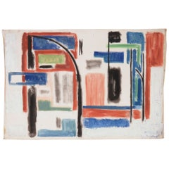 Modernist Abstract Painting by Phillip Callahan, circa 1960s