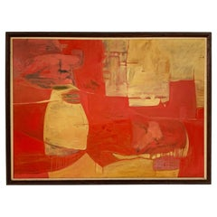 Modernist Abstract Painting by Sy Rudman, Circa 1960s