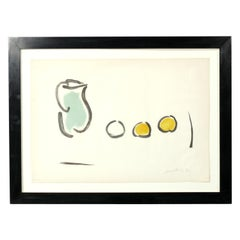 Modernist Abstract Still Life Lithograph by James Lechay