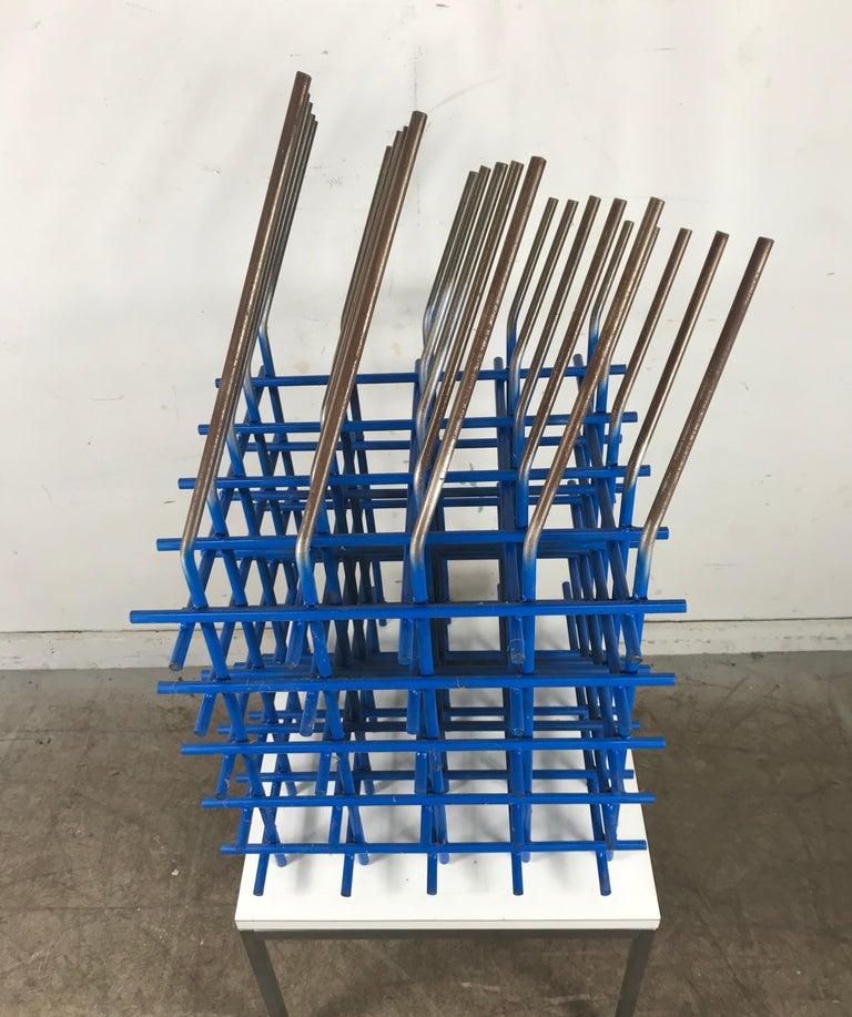 Modernist Abstract Welded Steel Sculpture