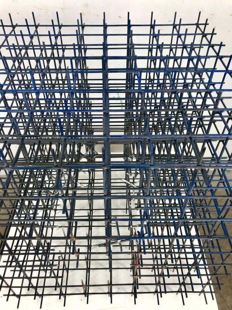 American Modernist Abstract Welded Steel Sculpture