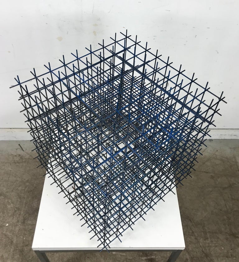Late 20th Century Modernist Abstract Welded Steel Sculpture