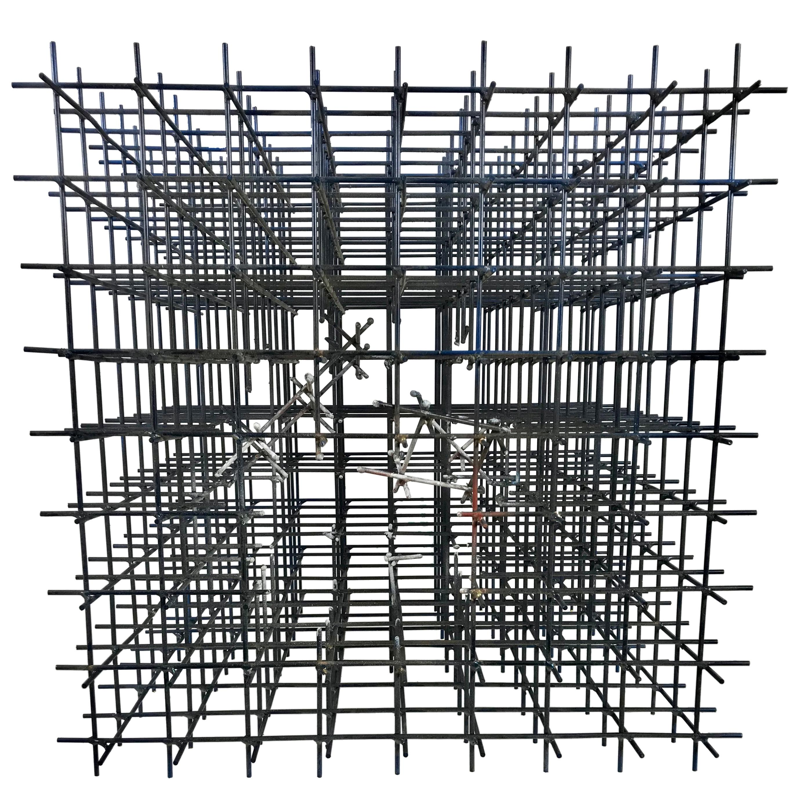 "Modernist Abstract Welded Steel Sculpture ""Explosion"" by Robert Brock"