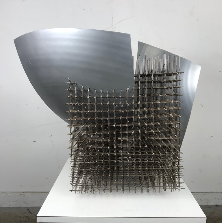American Modernist Abstract Welded Steel Sculpture