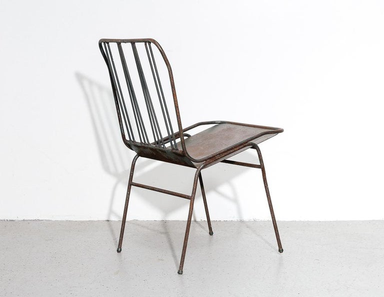 Mid-20th Century Modernist All-Steel Chair For Sale