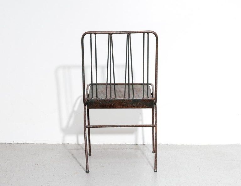 Modernist All-Steel Chair For Sale 1
