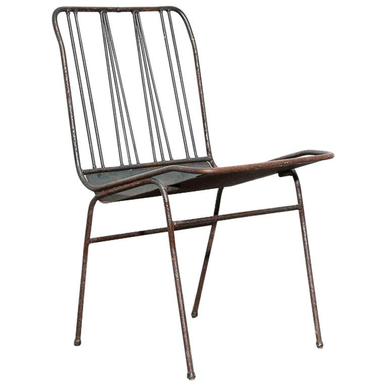 Modernist All-Steel Chair For Sale