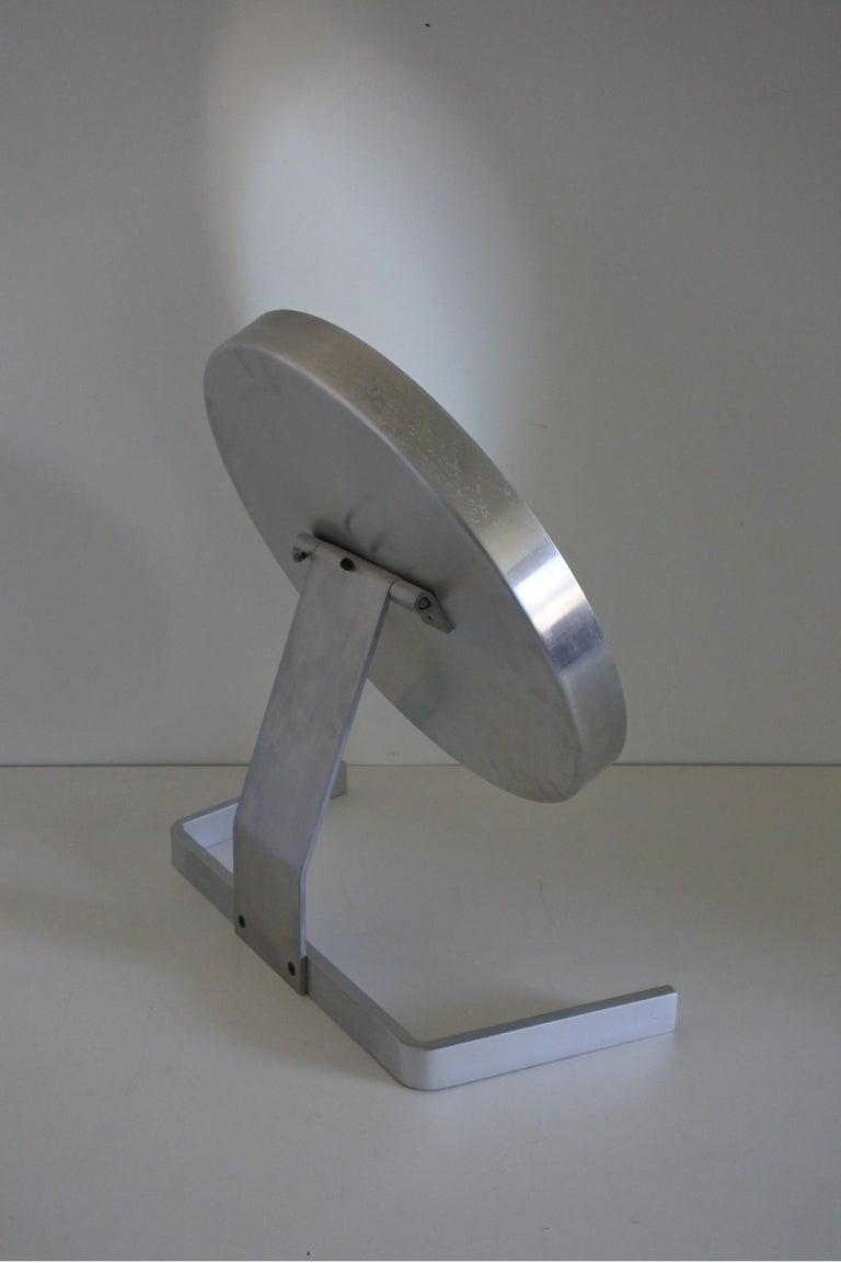 Modernist Aluminum Vanity or Table Mirror by Pierre Vandel, France 1970s For Sale 5