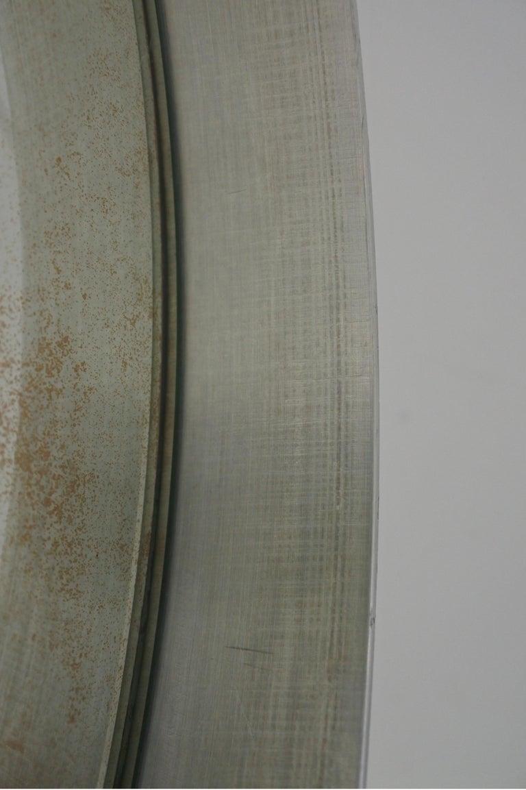 Modernist Aluminum Vanity or Table Mirror by Pierre Vandel, France 1970s For Sale 12