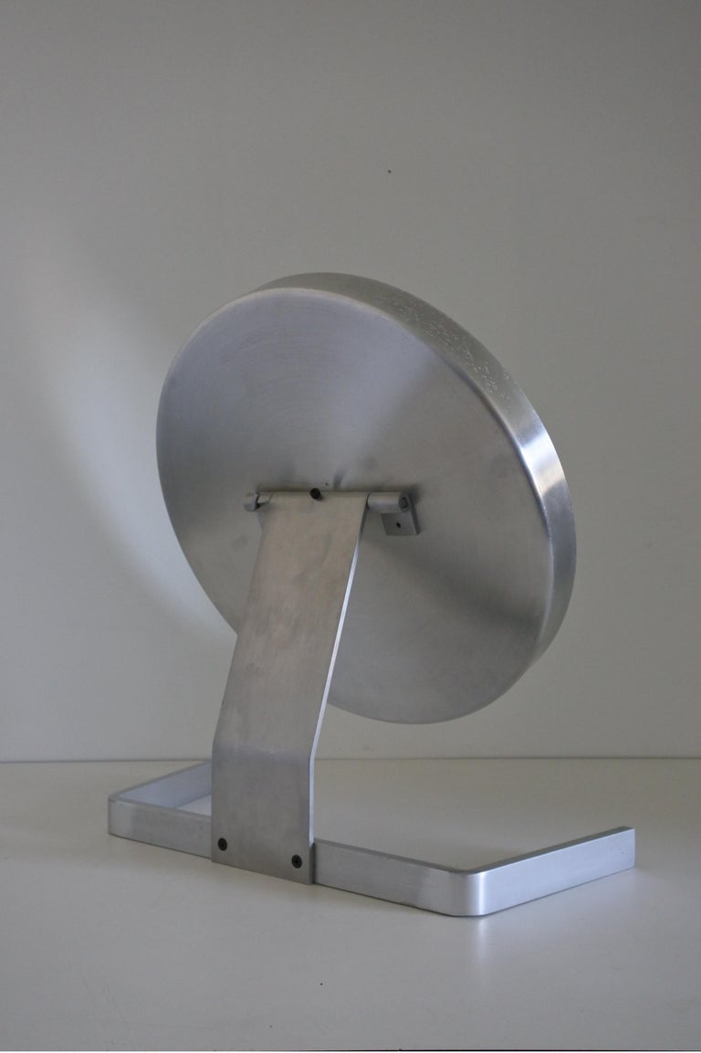 Modernist Aluminum Vanity or Table Mirror by Pierre Vandel, France 1970s In Good Condition For Sale In La Teste De Buch, FR