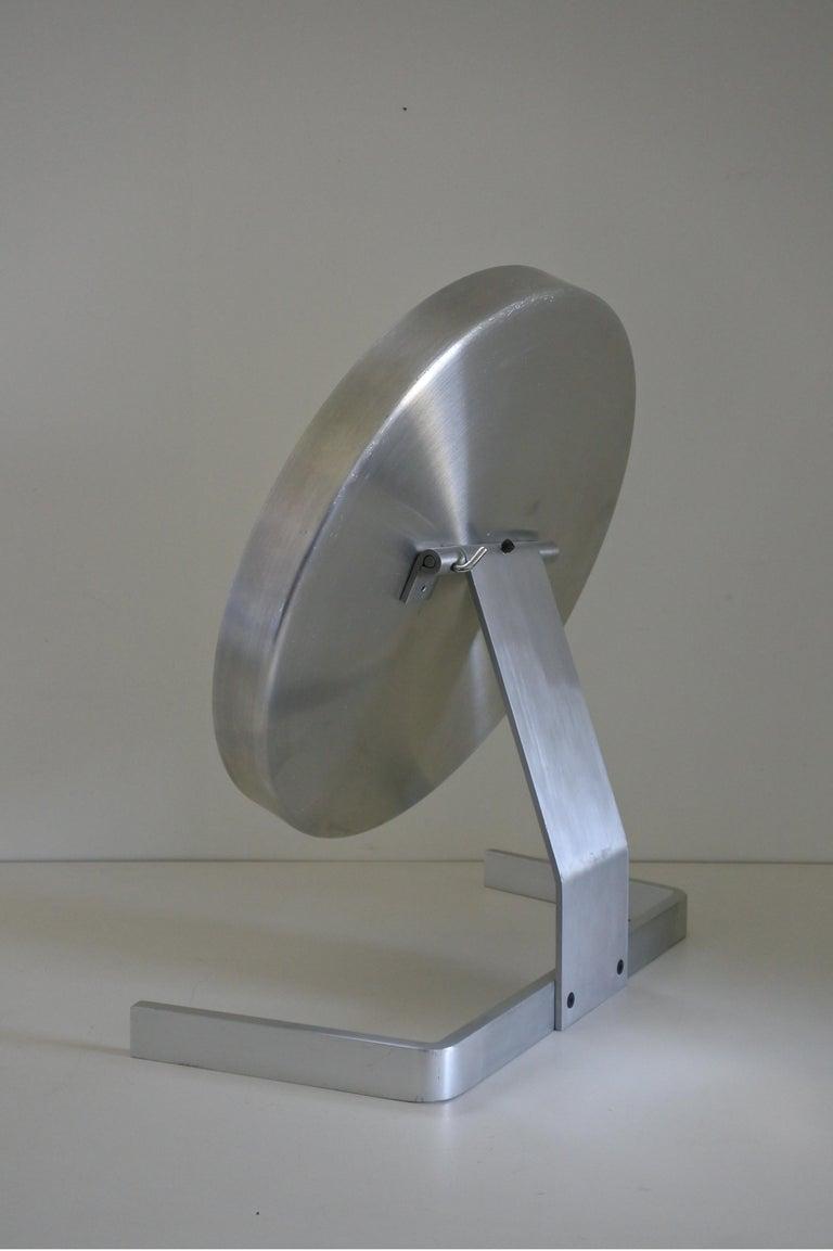 Modernist Aluminum Vanity or Table Mirror by Pierre Vandel, France 1970s For Sale 1