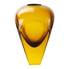 Modernist Amber Glass Vase