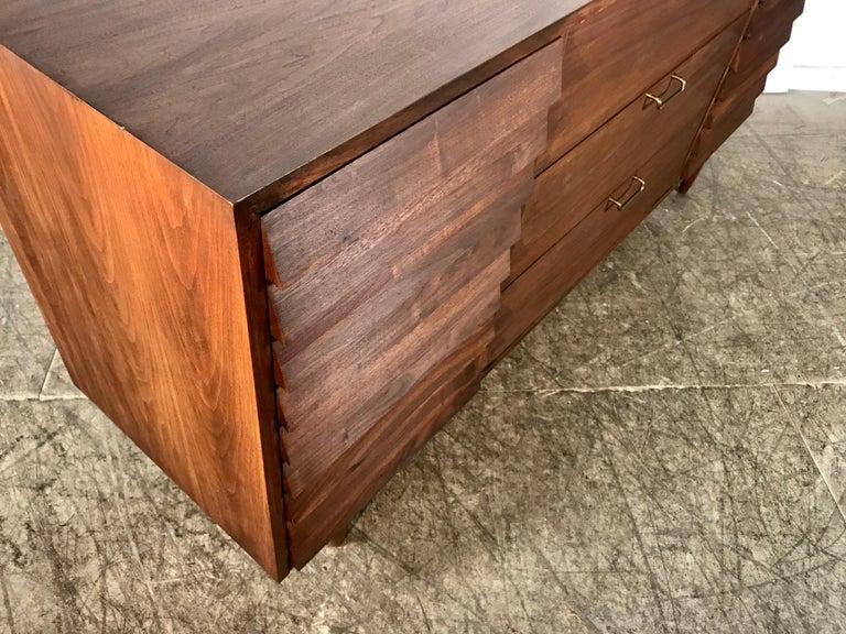 Mid-20th Century Modernist American of Martinsville Walnut Dresser by Merton Gershun For Sale