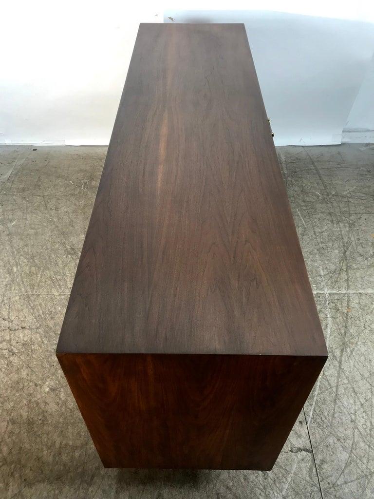 Modernist American of Martinsville Walnut Dresser by Merton Gershun For Sale 2