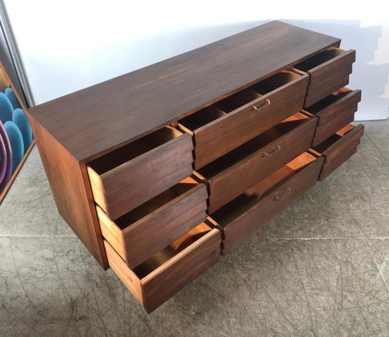 Modernist American of Martinsville Walnut Dresser by Merton Gershun For Sale 3